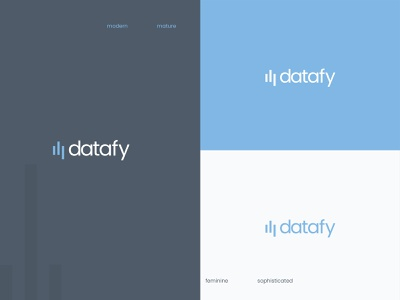 datafy_data_science ui print design marketing brand identity chart data science data visualization modern logo tech logo feminine logo logos logo design