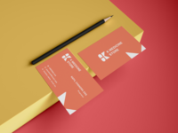 K medicine stores business card concept.