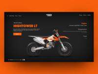 Motorbike Landing Page Concept