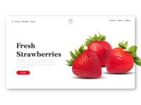 Strawberries' Store Landing Page