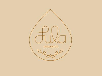 Lula Organics minimal vector flat logo branding design