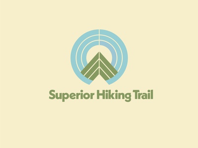Superior Hiking Trail minimal vector flat branding logo design