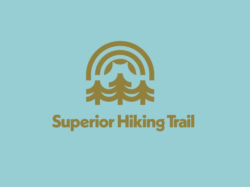 Superior Hiking Trail 2 vector minimal logo flat branding design