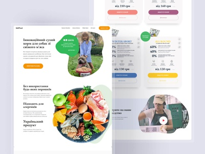 Wellfood — Landing Page shop font awesome font web website figmadesign design ui clean landing