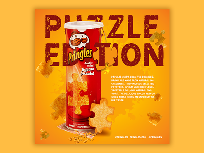 "Famous ""Pringles"" chips branding poster design poster art post portfolio ui web photoshop illustration design"