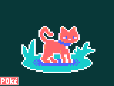 Cat - R1 - Pursue Pallete 4 design small illustration pixel pixel art