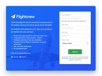 Flightcrew landing page