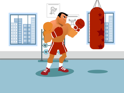 Punching Practice Animation