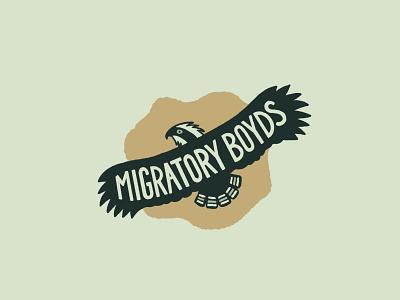 Migratory Boyds bird logo handlettering migrate lettering osprey bird travel