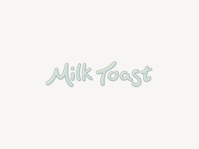 Milk Toast Designs written lettered drawn hand handdrawn handwritten procreate handlettering logo lettering