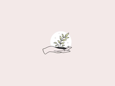 Growth drawn sprout dirt hold drawing handdrawn outline hand sprig leaves plant growing growth grow