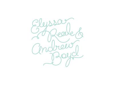 Personal Wedding Invitation script lettering hand lettering invite invitation wedding names