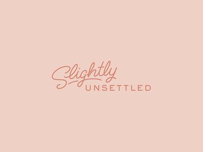 Slightly Unsettled Logo logotype travel vanlife lettering logo
