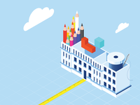 Isometric school