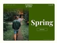 Spring - Homepage Design