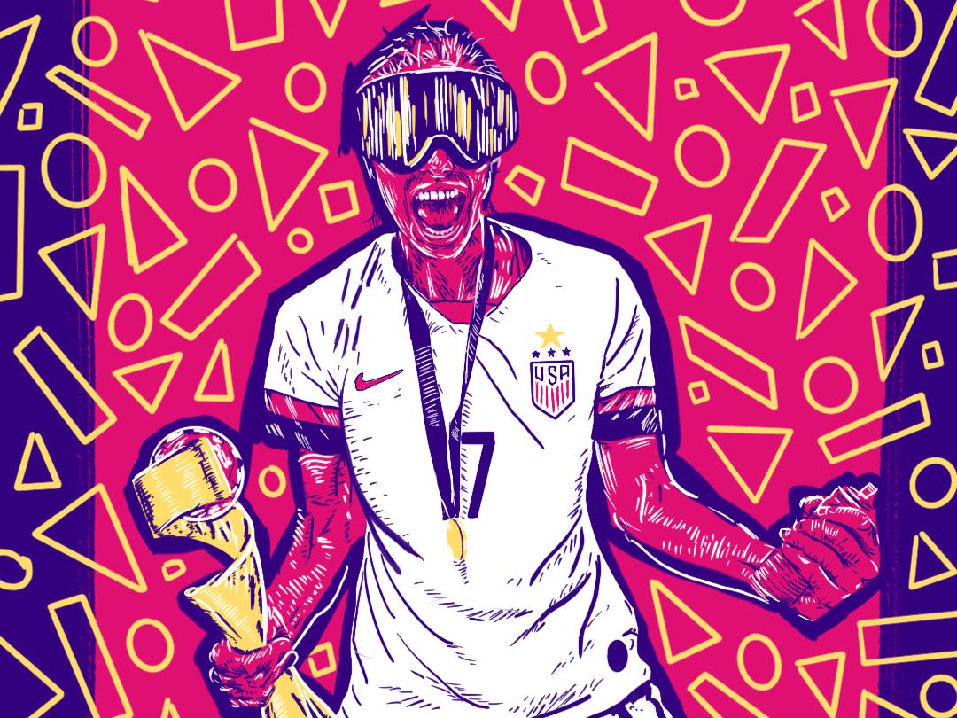 Tobin Heath Illustration procreate editorial soccer illustration