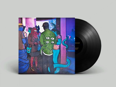 At Mission Dolores - Last Night Outside Her Apartment LP Cover digital art photography vinyl record packaging design layout design music record sleeve record vinyl design packaging