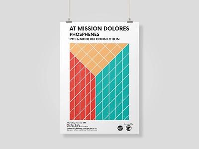 Post-Modern Poster Design print design print layout design illustrator vector poster design minimal design gig poster design typography music