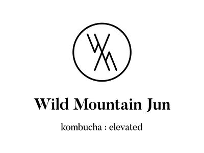 Wild Mountain Jun LogoBranding wordmark icon identity branding minimal typography logo design design logo