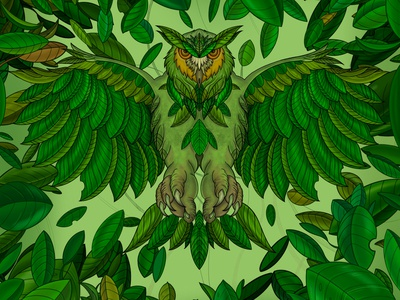 Green prey draw packaging commercial art art illustrator illustration artwork