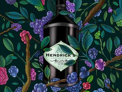 Hendricks illustration project branding packaging commercial art design draw illustrator illustration artwork