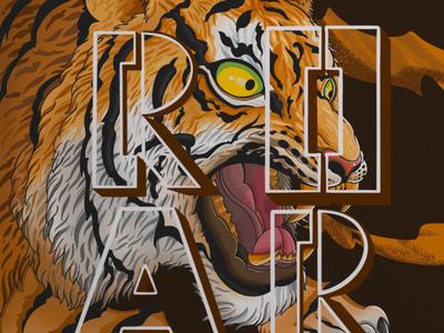 roar illustrative typography draw typography art type typography commercial art art design illustration artwork illustrator