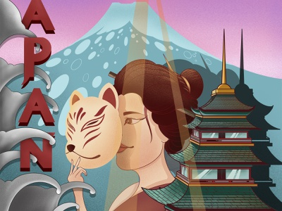 good morning in kyoto type typography japanese art japan draw commercial art design art illustration artwork illustrator