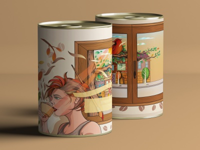 Final coffee packaging branding draw commercial packagedesign packaging package art design commercial art illustration artwork illustrator