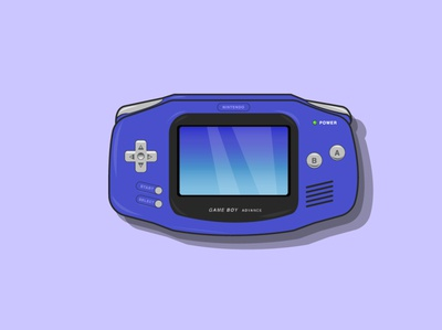 gameboy advance vector illustration