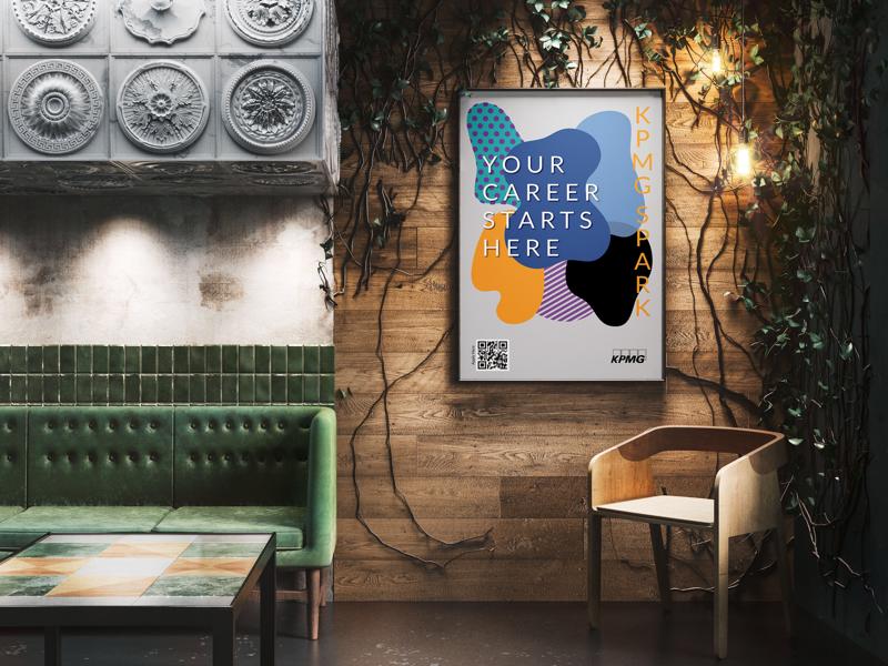 KPMG Recruiting Poster illustrator design kpmg accounting poster