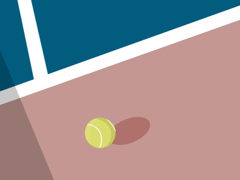 Tennis//Digital Painting lines drawing illustration sports summer tennis