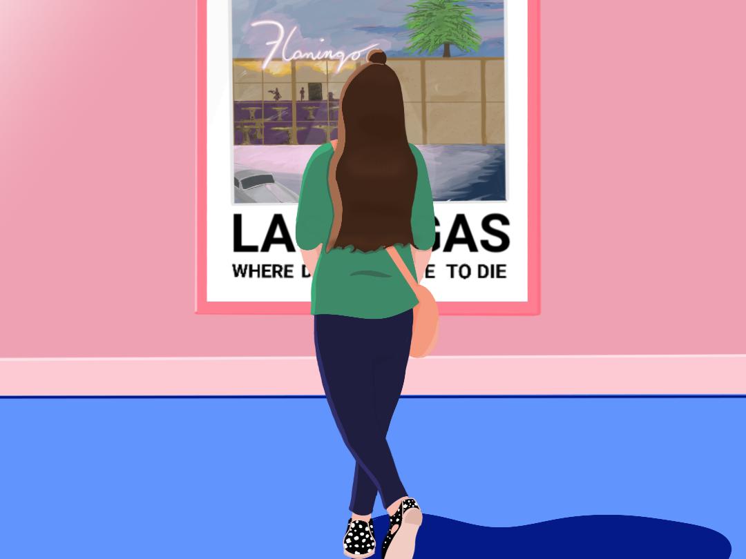 Las Vegas fashion drawing editorial art illustration las vegas