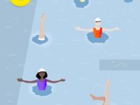 Grandmas at the Pool//Illustration