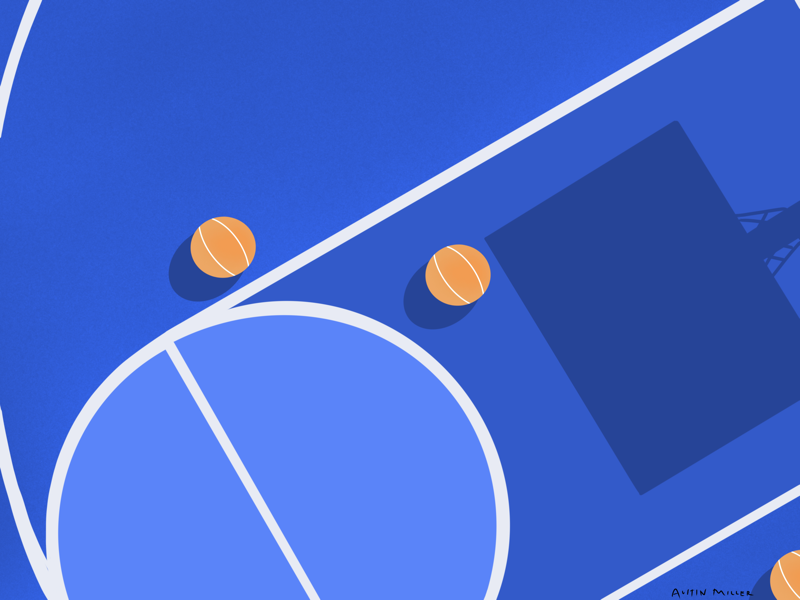 Basketball illustration basketball lines minimalism clean