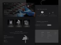 A Gun Trigger Website Design gun control popular scifi futuristic future font modern military shoot black dark branding ui clean elegant minimal design website trigger gun