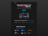 IT Company Website Design Idea portfolio typography product service dark black vector clean elegant minimal branding digital marketing ux ui web app design website company it