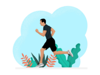 Man Jogging Outside Flat Illustration vectors vectorart vector illustration vector art vector illustrator illustrations illustration graphicdesign flatdesign flat illustration flat design flat  design design character artwork adobeillustrator adobe photoshop adobe illustrator