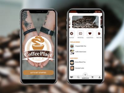 Coffee Shop Mobile App Design