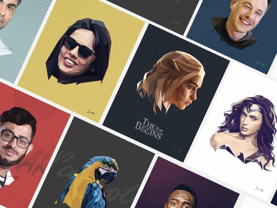 Lowpoly Portraits portraits vector lowpoly illustration