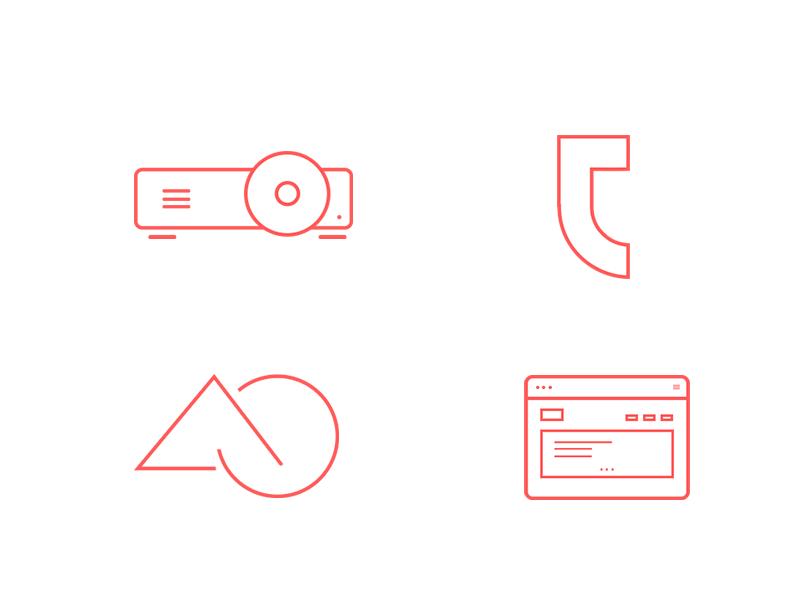 Line Icons line icons illustrator photoshop flat red icons icon