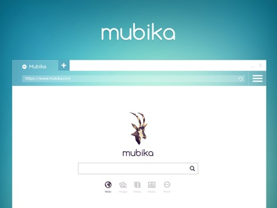 Homepage design for Mubika