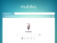 Homepage design for Mubika