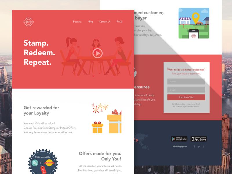 Stampitgo ui icons interfaces web simple icon ux psd sqaure red white landingpage