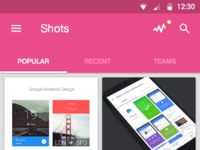 Dribbble home
