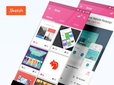 Dribbble App Material Design