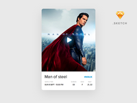 Movie Ticket Card (Sketch freebie)