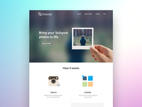 Frame.ly landing page