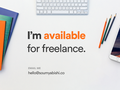Available for hire! work project freelancer hire me available freelance