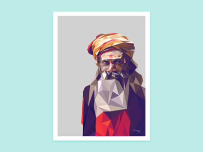 Sadhu Lowpoly portrait illustration portrait lowpoly