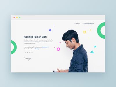 Personal website portfolio minimal designer clean